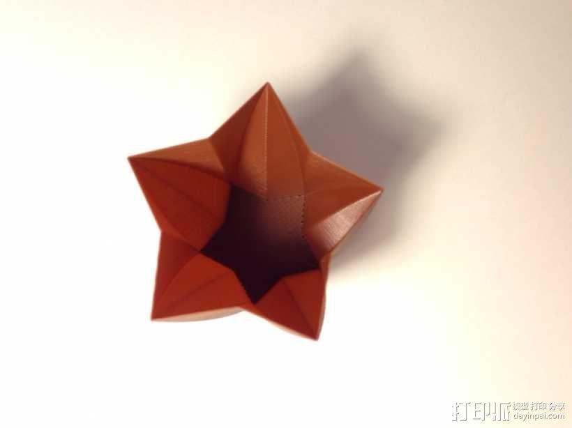 定制化星形花瓶/笔筒 3D模型  图6