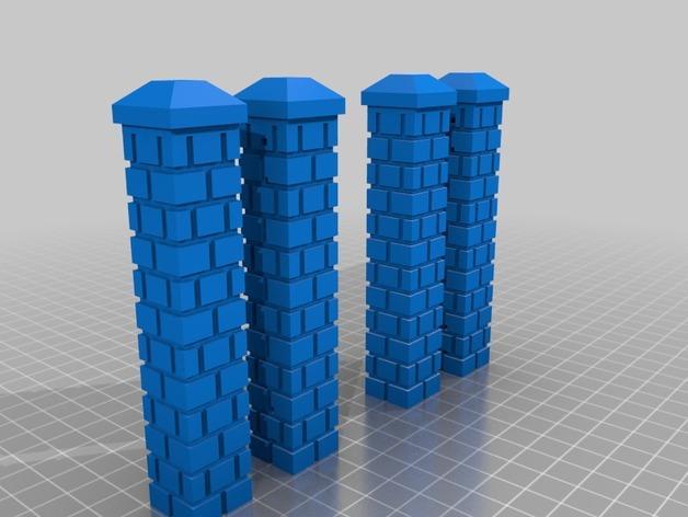 迷你简易铁门 3D模型  图2