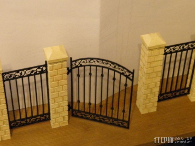迷你简易铁门 3D模型  图1