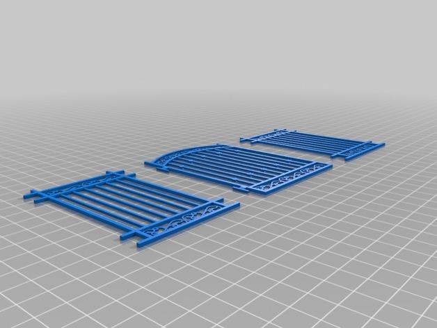 迷你简易铁门 3D模型  图3