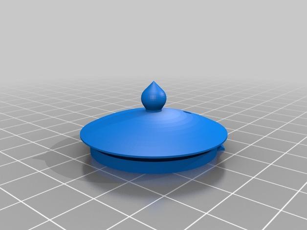 迷你心形茶壶套件 3D模型  图2