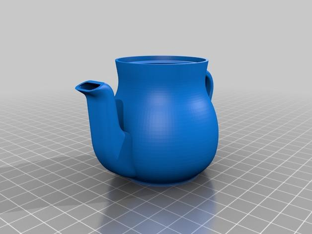 迷你心形茶壶套件 3D模型  图3