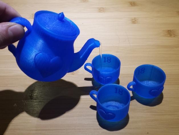 迷你心形茶壶套件 3D模型  图5