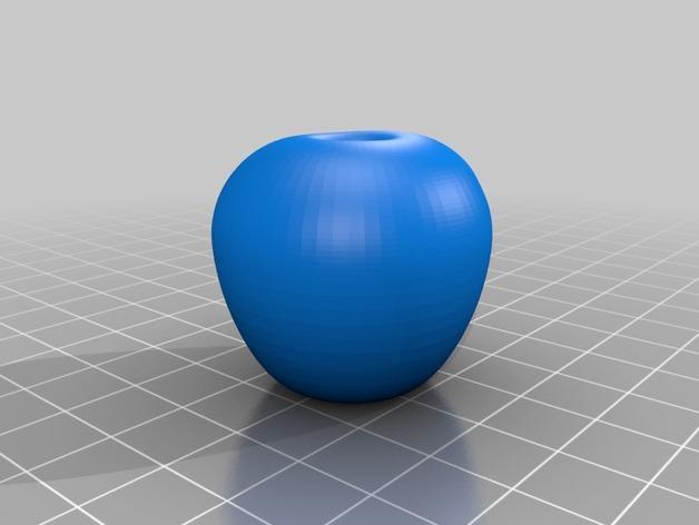 苹果形收纳盒 3D模型  图2