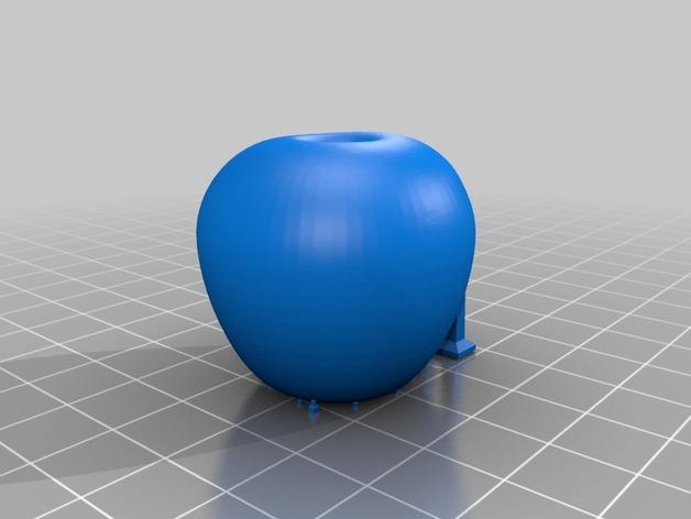 苹果形收纳盒 3D模型  图3