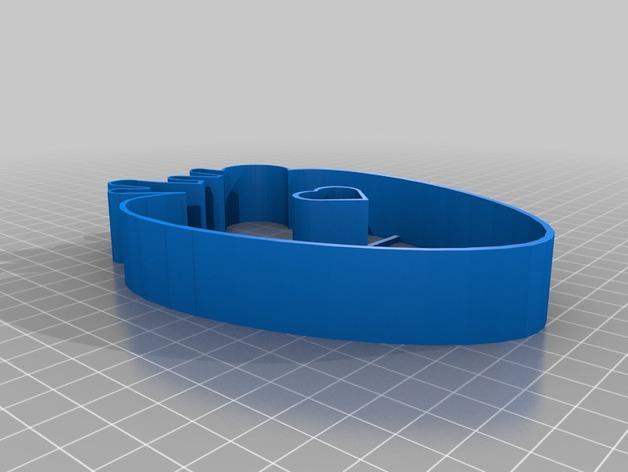 草莓心形饼干模具切割刀 3D模型  图2