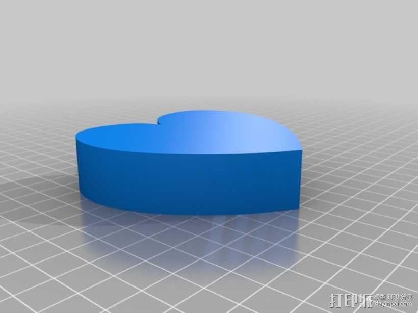 心形收纳盒 3D模型  图2