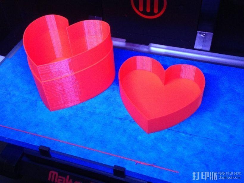 心形收纳盒 3D模型  图1