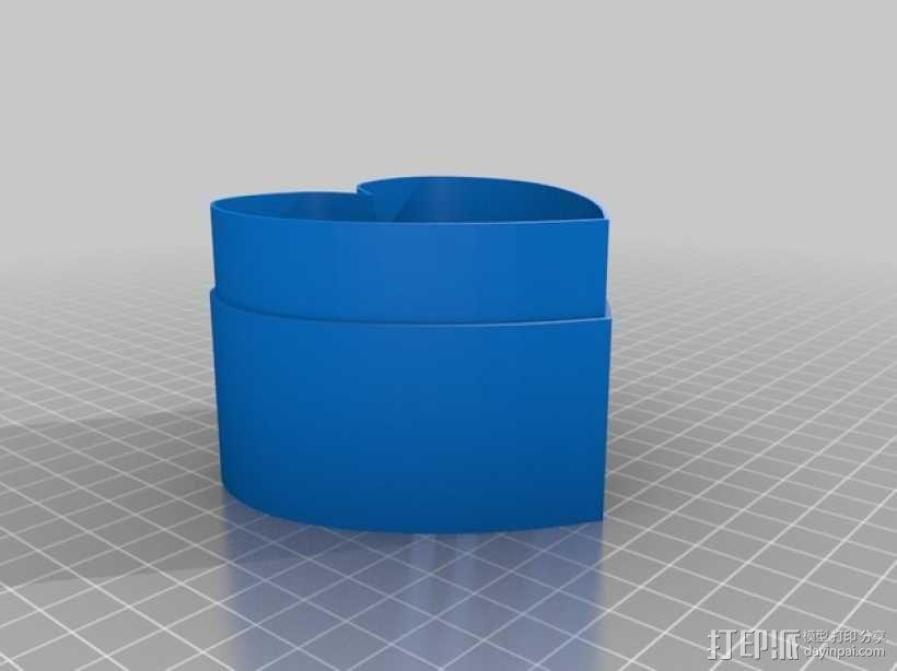 心形收纳盒 3D模型  图3