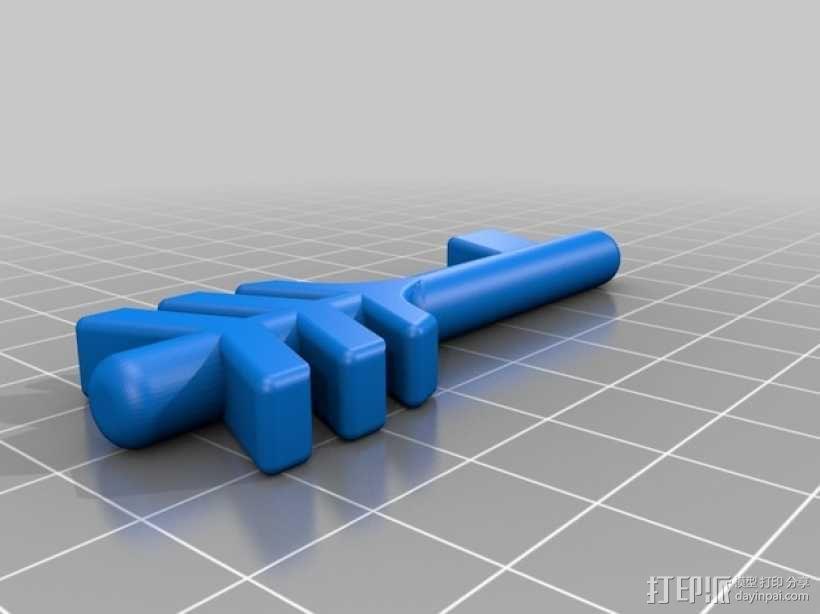 带锁心形收纳盒 3D模型  图3