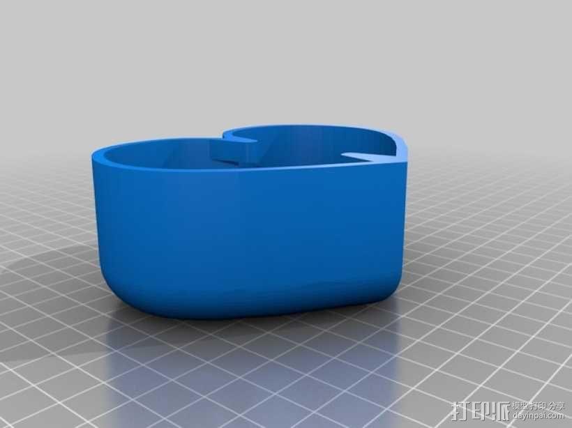 带锁心形收纳盒 3D模型  图2