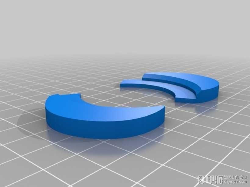 带锁心形收纳盒 3D模型  图4