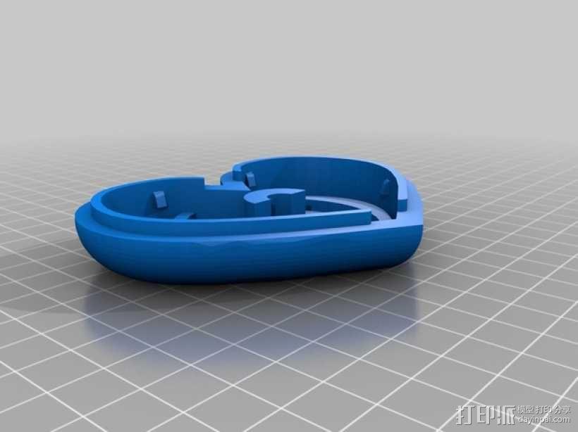 带锁心形收纳盒 3D模型  图6