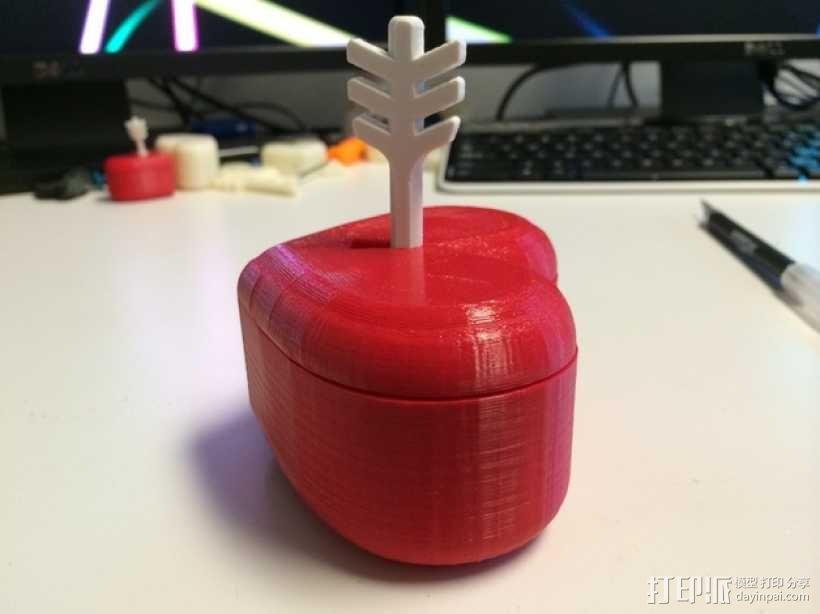 带锁心形收纳盒 3D模型  图8