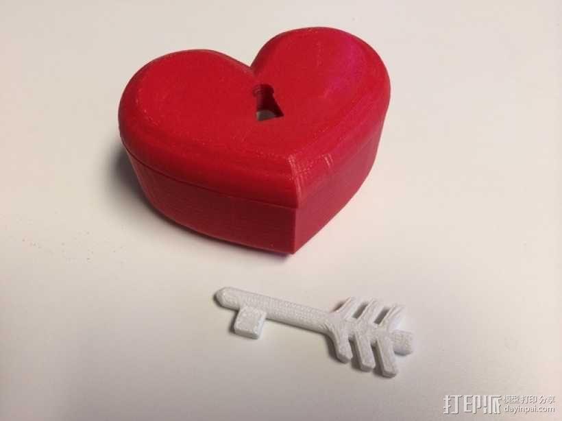 带锁心形收纳盒 3D模型  图7