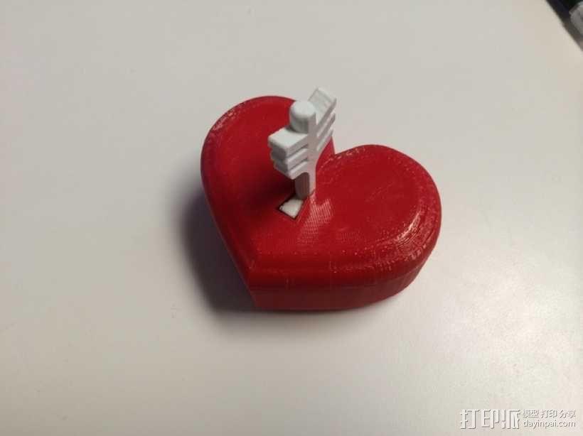 带锁心形收纳盒 3D模型  图9