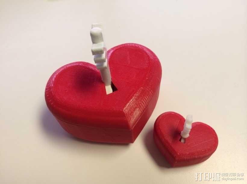 带锁心形收纳盒 3D模型  图11