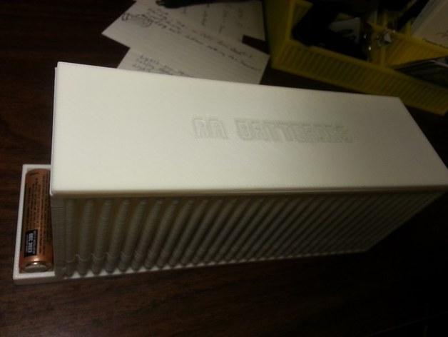 AA/AAA电池盒 3D模型  图6