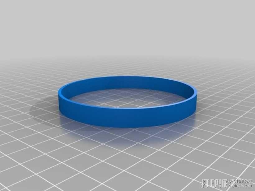 美国队长盾牌饼干模具切割刀 3D模型  图2