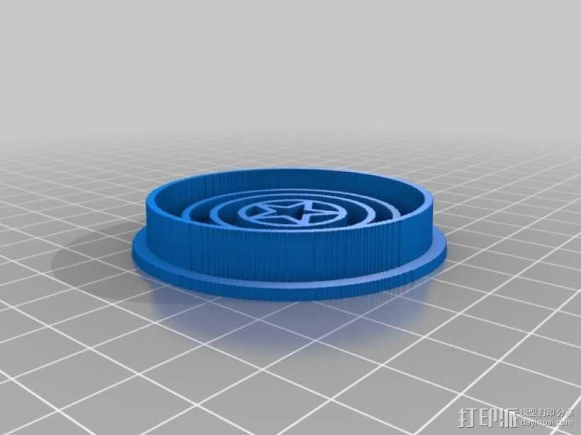 美国队长盾牌饼干模具切割刀 3D模型  图6