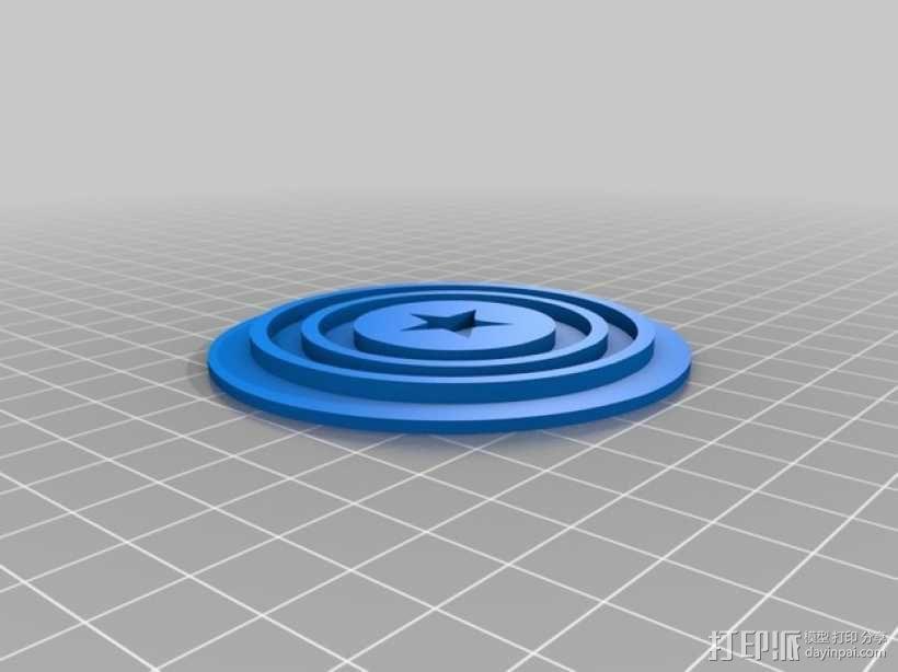 美国队长盾牌饼干模具切割刀 3D模型  图4