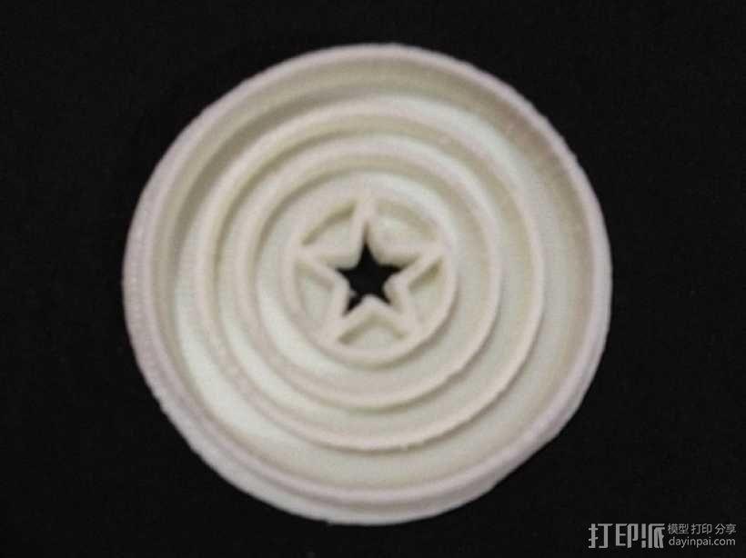 美国队长盾牌饼干模具切割刀 3D模型  图5