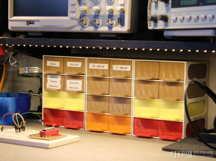 迷你零部件储物柜 3D模型  图3