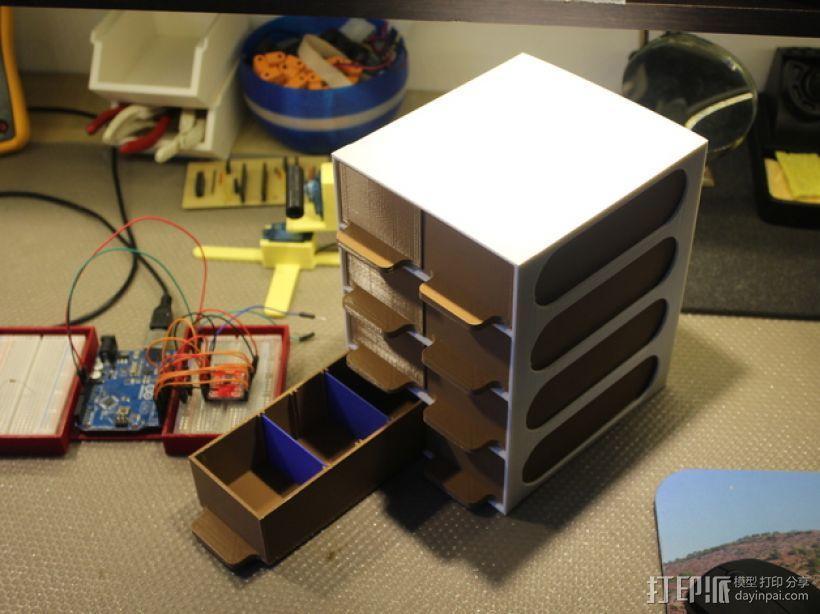 迷你零部件储物柜 3D模型  图2