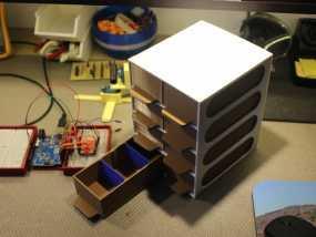 迷你零部件储物柜 3D模型