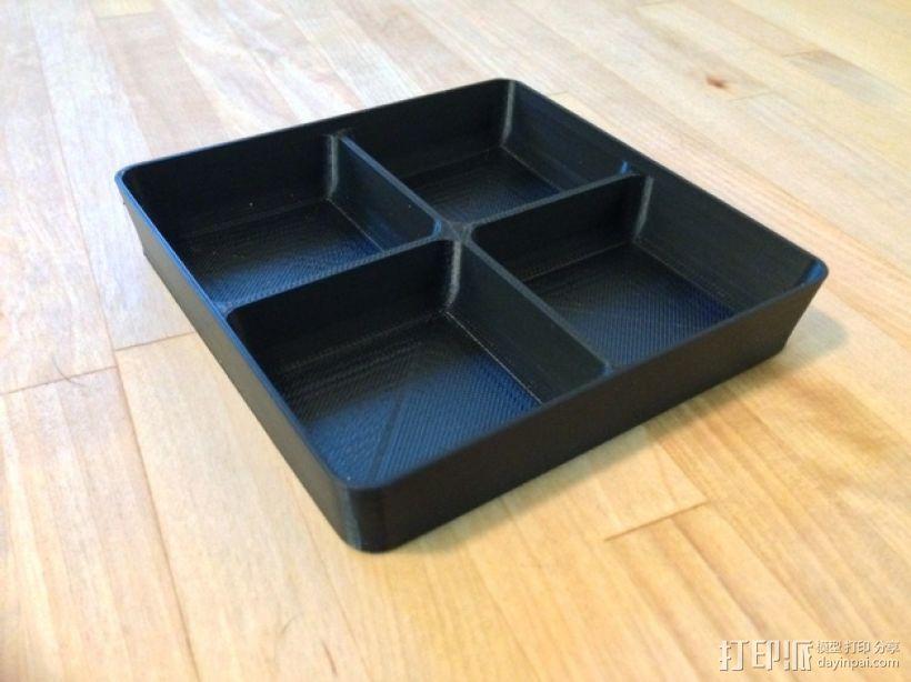 可堆叠方形托盘 3D模型  图3