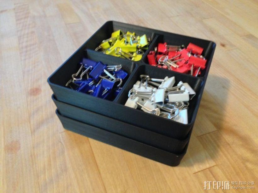 可堆叠方形托盘 3D模型  图2