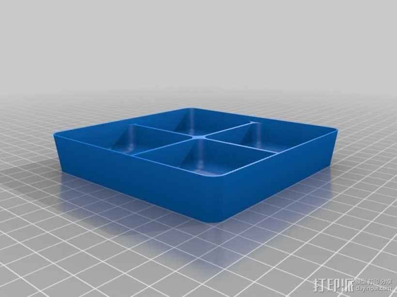 可堆叠方形托盘 3D模型  图4