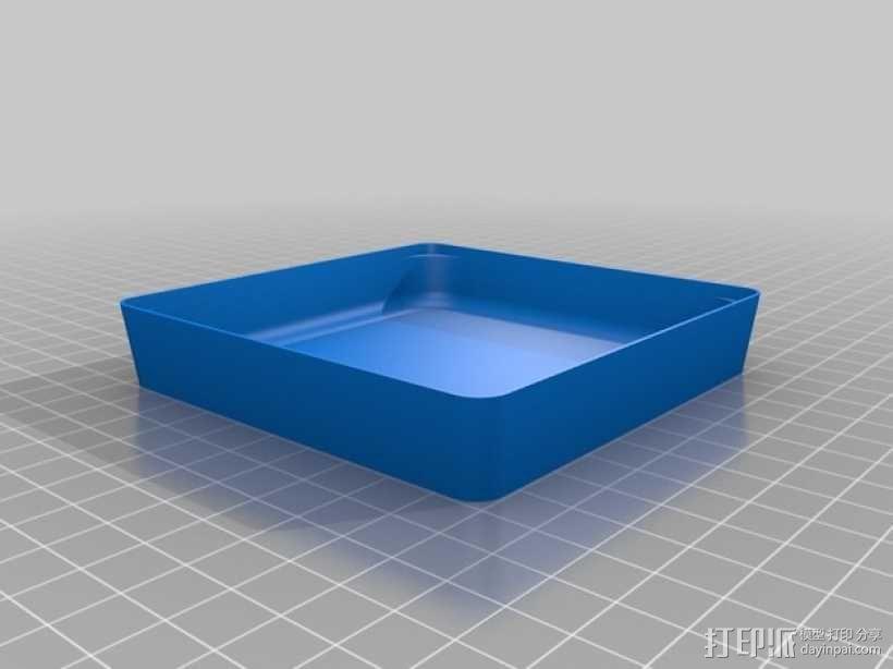 可堆叠方形托盘 3D模型  图6