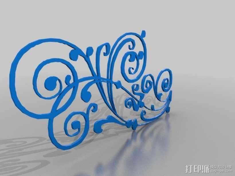 迷你花饰 3D模型  图1