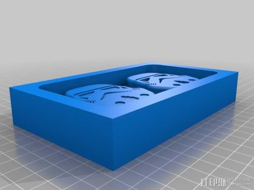 巧克力制作模具 -- 星球大战突击队员 3D模型  图2