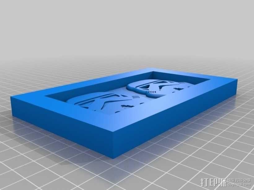 巧克力制作模具 -- 星球大战突击队员 3D模型  图3