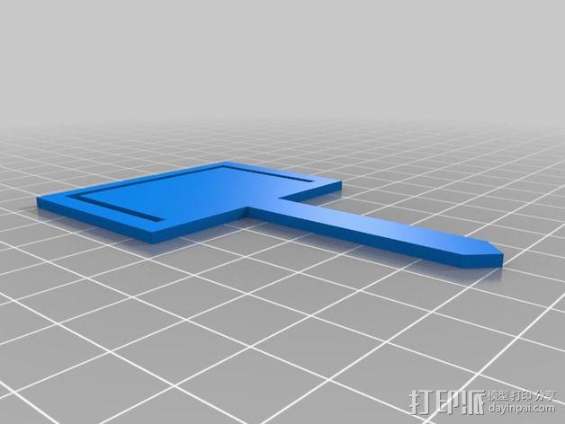 盆栽植物标签 3D模型  图2