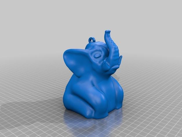 迷你小象装饰品 3D模型  图1