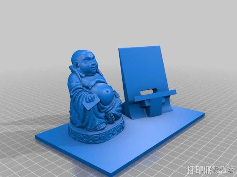 弥勒佛手机架 3D模型  图1