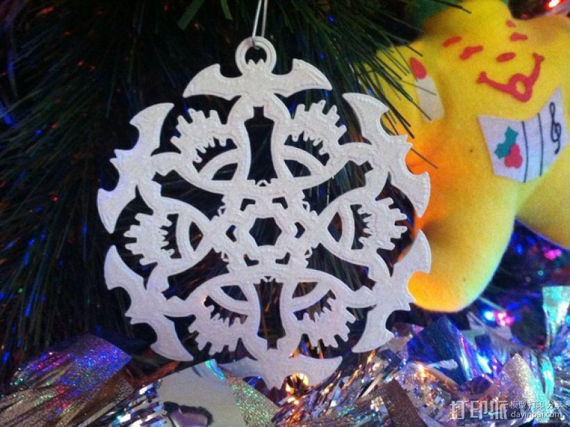 蝙蝠形雪花装饰品 3D模型  图1
