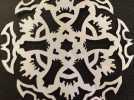 蝙蝠形雪花装饰品 3D模型 图4