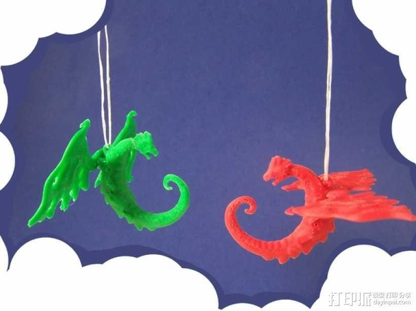 龙形吊坠/装饰物 3D模型  图1