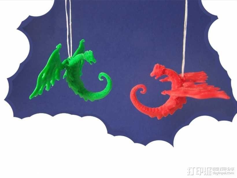 龙形吊坠/装饰物 3D模型  图2