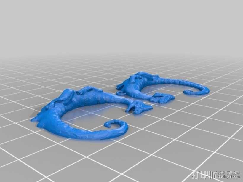 龙形吊坠/装饰物 3D模型  图4