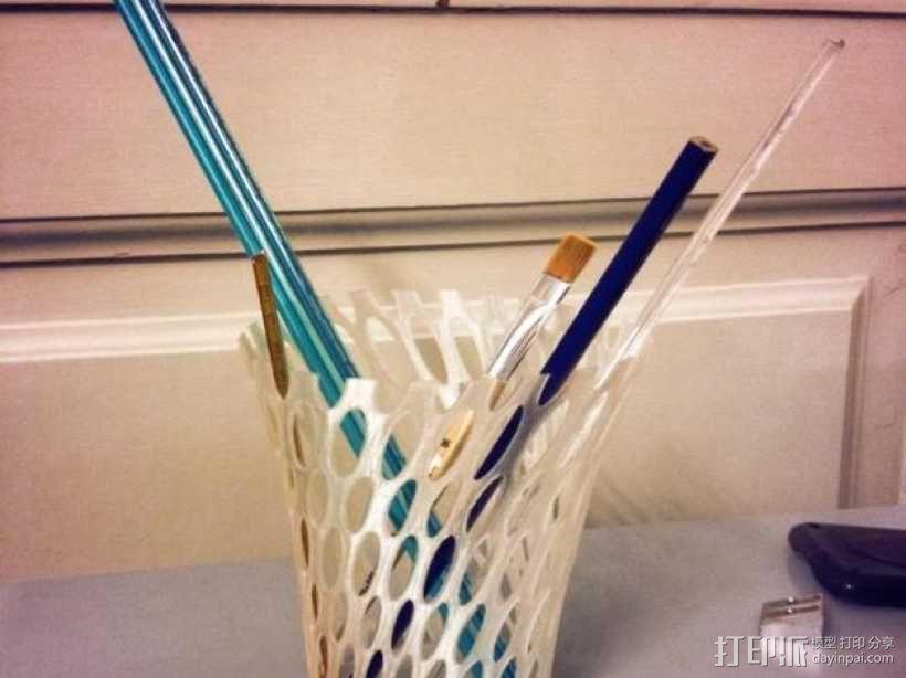 镂空花瓶/笔筒 3D模型  图4