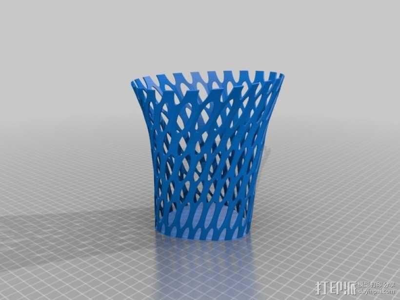镂空花瓶/笔筒 3D模型  图2