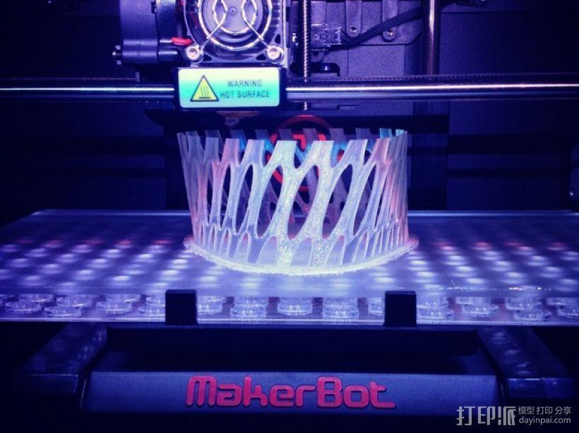 镂空花瓶/笔筒 3D模型  图3