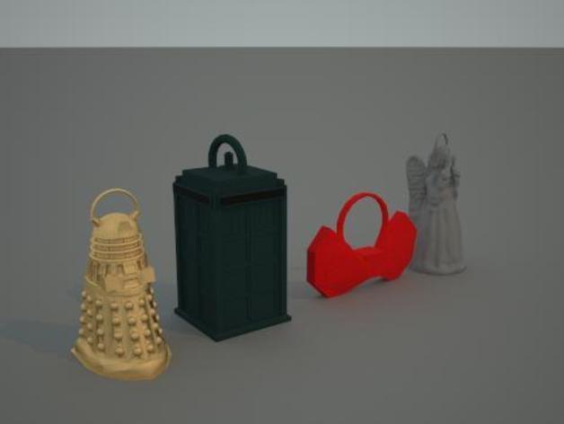 神秘博士主题圣诞装饰品 3D模型  图1