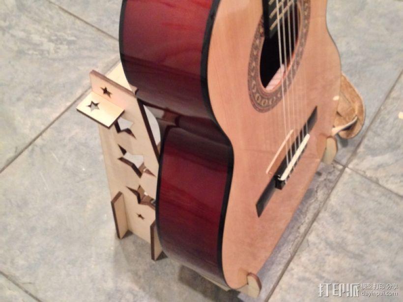 激光切割吉他支架 3D模型  图1