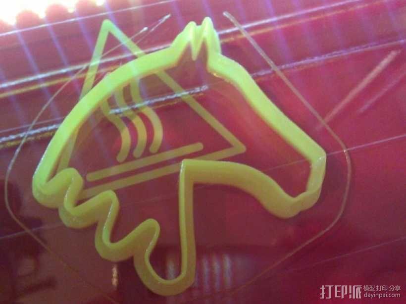 马形饼干模具切割刀 3D模型  图2